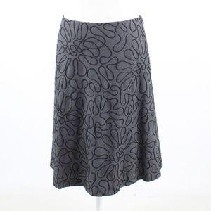 Black gray 100% wool  J MCLAUGHLIN A-line skirt 6
